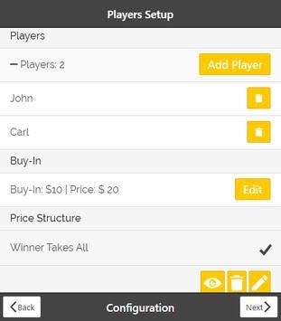 Poker Tournament Manager apk screenshot