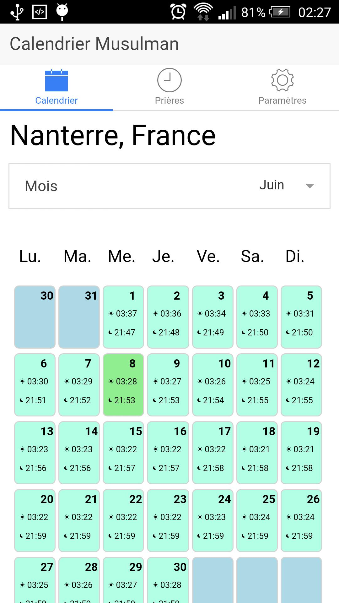 Calendrier Musulmans.Calendrier Musulman For Android Apk Download
