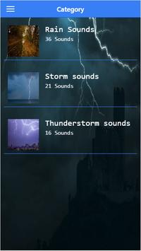 Storm sound for sleeping poster