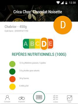 Scan Eat - Scanner alimentaire pour mieux manger Screenshot 6
