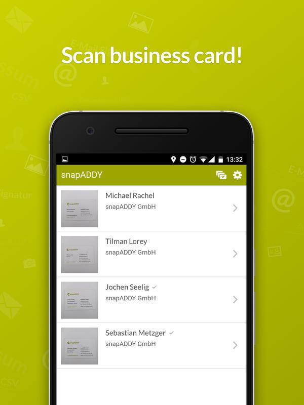 snapADDY Business Card Scanner APK Download - Free Business APP for ...