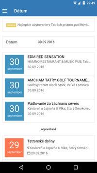 Tatranský kalendár apk screenshot