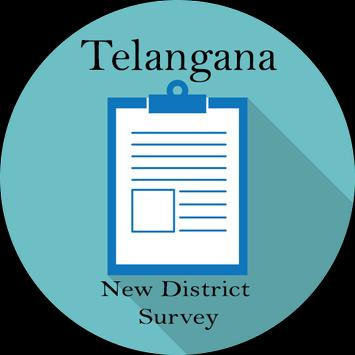 Telangana New Districts Survey poster