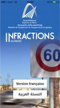 Infractions routières poster