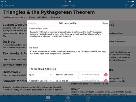 TeacherPlanBook screenshot 2