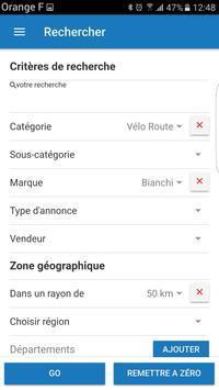 Troc-Vélo annonces 100% vélo apk screenshot