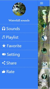 Waterfall sounds  for sleep poster