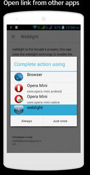 Weblight, Fast Browsing apk screenshot