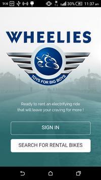 Wheelies - Self Drive Bikes poster