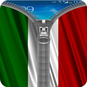 Italy Flag Zipper Screenlock icon