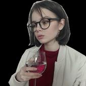 Wine girl icon