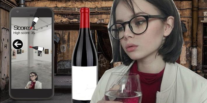 Wine girl poster