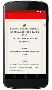 UU Perlindungan Konsumen RI apk screenshot
