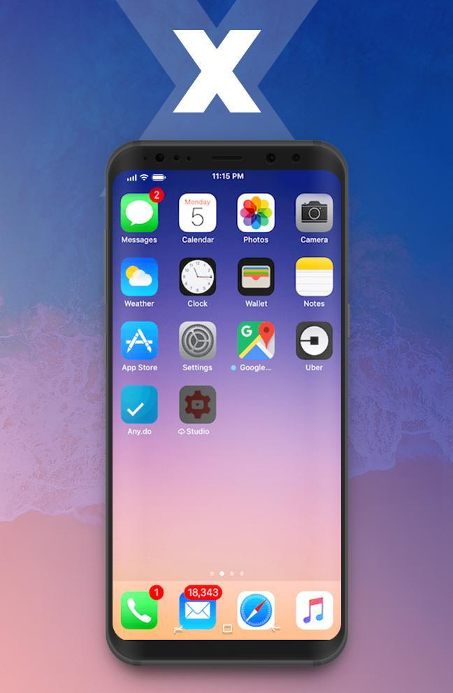 big sale f0d00 bcf61 Lock Screen IPHONE X style iOS 11 Locker for Android - APK Download