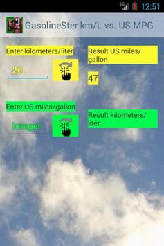 km/L vs. US MPG GasolineSter screenshot 1