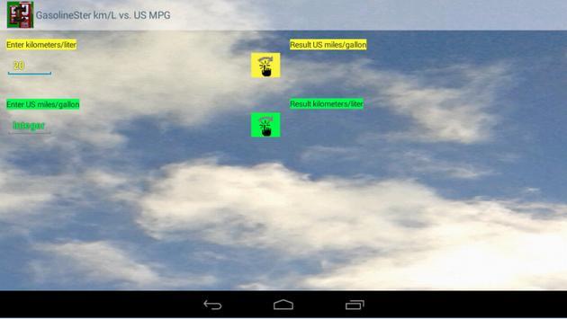 km/L vs. US MPG GasolineSter apk screenshot