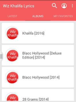 Wiz Khalifa Lyrics apk screenshot