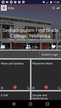 Seshadripuram First Grade College, Yelahanka poster