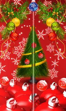 Christmas Zipper Lock Screen poster