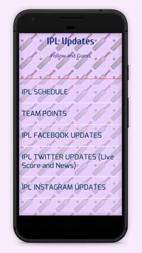 Updates for IPL poster