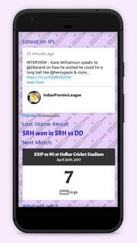 Updates for IPL apk screenshot