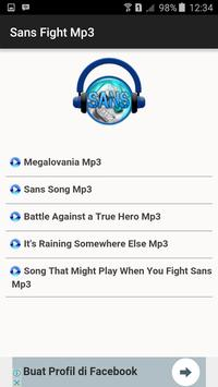 Sans Fight Mp3 apk screenshot