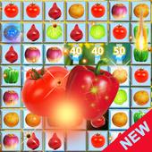 Jewel Star Fruit Bomb & Vegetables Match 3 icon