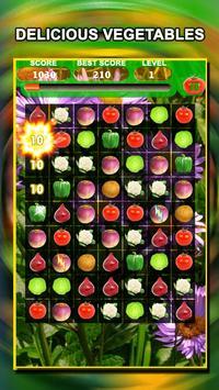 Jewel Star Fruit Bomb & Vegetables Match 3 screenshot 4