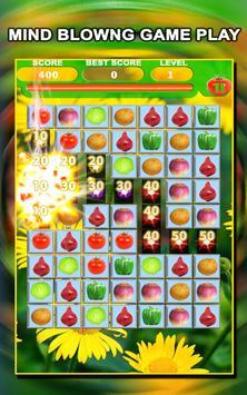 Jewel Star Fruit Bomb & Vegetables Match 3 screenshot 5