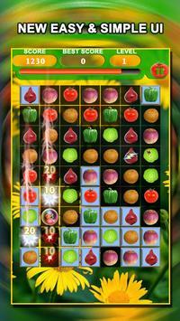 Jewel Star Fruit Bomb & Vegetables Match 3 screenshot 13
