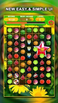 Jewel Star Fruit Bomb & Vegetables Match 3 screenshot 12