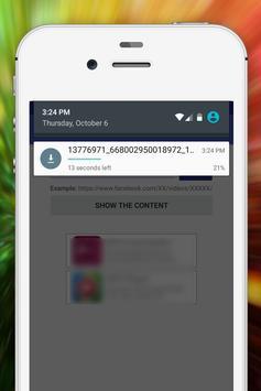 downloader for facebook apk screenshot