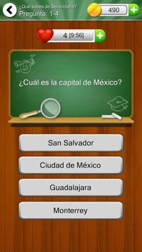 ¿Qué sabes de Secundaria? apk screenshot