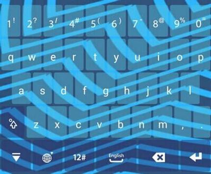 IQQI Blue Striple Theme apk screenshot