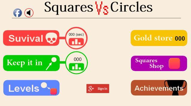 Squares vs Circles poster