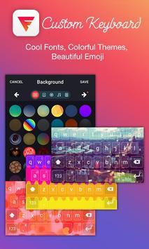 Colorful Emoji Keyboard EN poster
