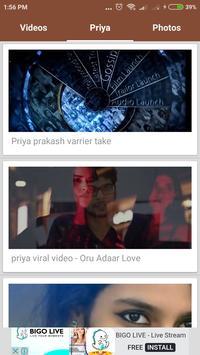 Priya Prakash varrier Videos & photos(Viral girl) screenshot 2