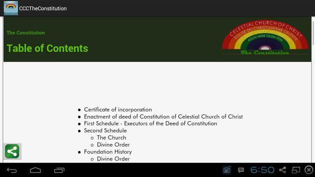 CCC Constitution apk screenshot