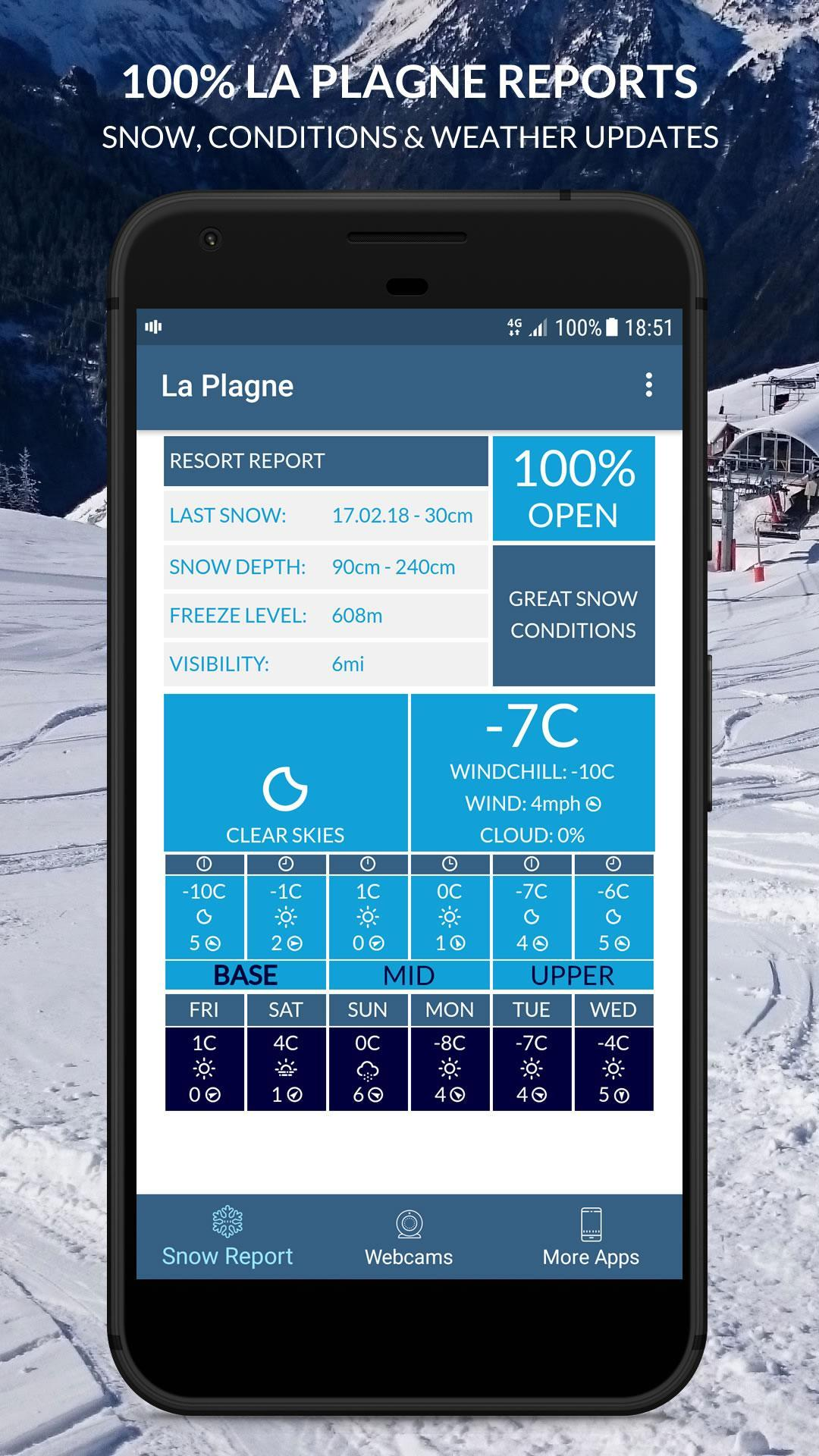 La Plagne Snow and Weather Report poster