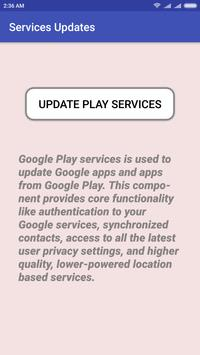 Services Update for Play Services apk screenshot