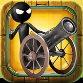 Stickman Cannon Shooter icon