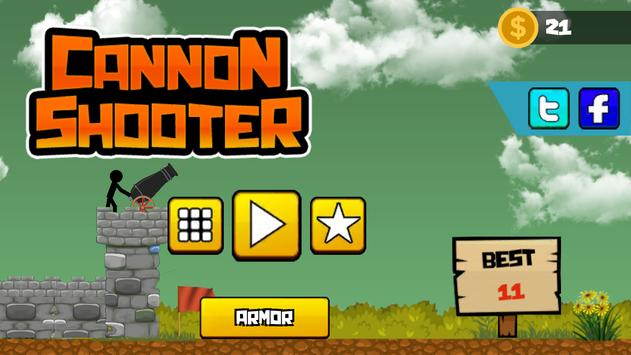 Stickman Cannon Shooter poster