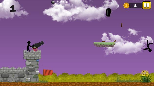 Stickman Cannon Shooter screenshot 10