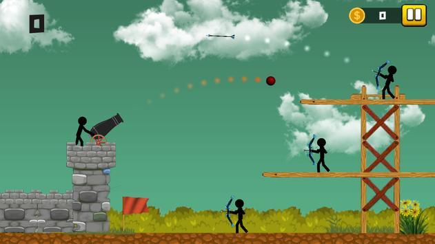 Stickman Cannon Shooter screenshot 2