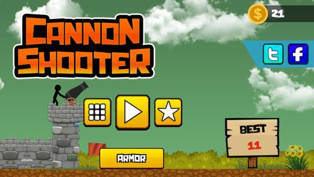 Stickman Cannon Shooter screenshot 6