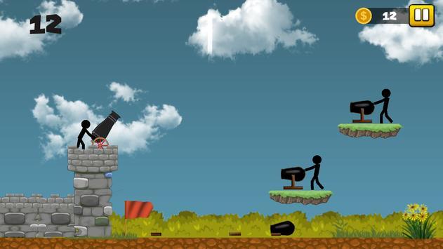 Stickman Cannon Shooter screenshot 9