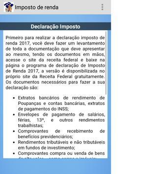 Declaração Imposto de Renda 07 apk screenshot