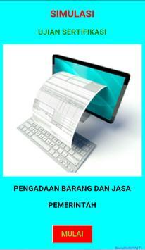 Simulasi Ujian Pengadaan Barang dan Jasa poster