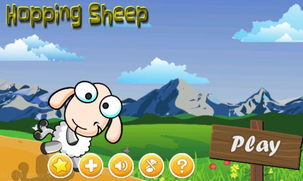 Hopping Sheep poster