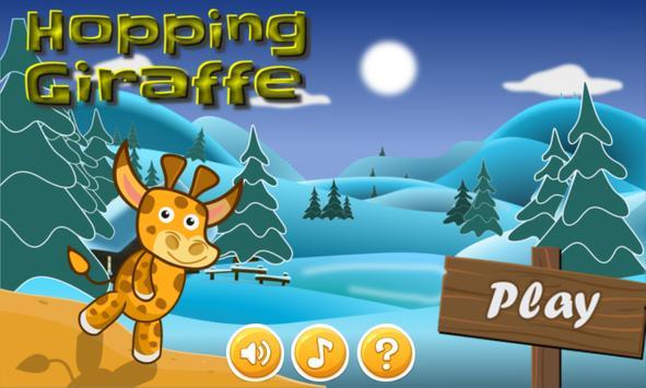 Hopping Giraffe poster
